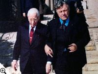 Mayor Teddy Kollek of Jerusalem with Herbert W. Armstrong.